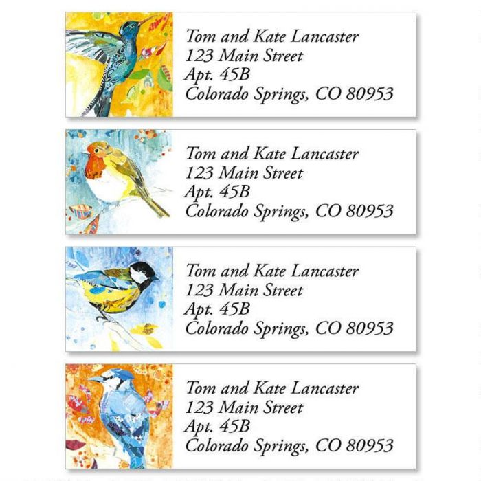 Birdsongs Classic Return Address Labels  (4 Designs)