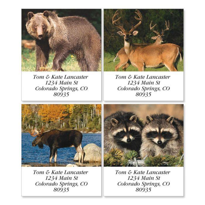 Wildlife II Select Return Address Labels  (4 Designs)