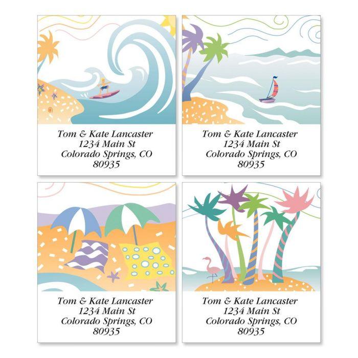Tropical Moods Select Return Address Labels  (4 Designs)