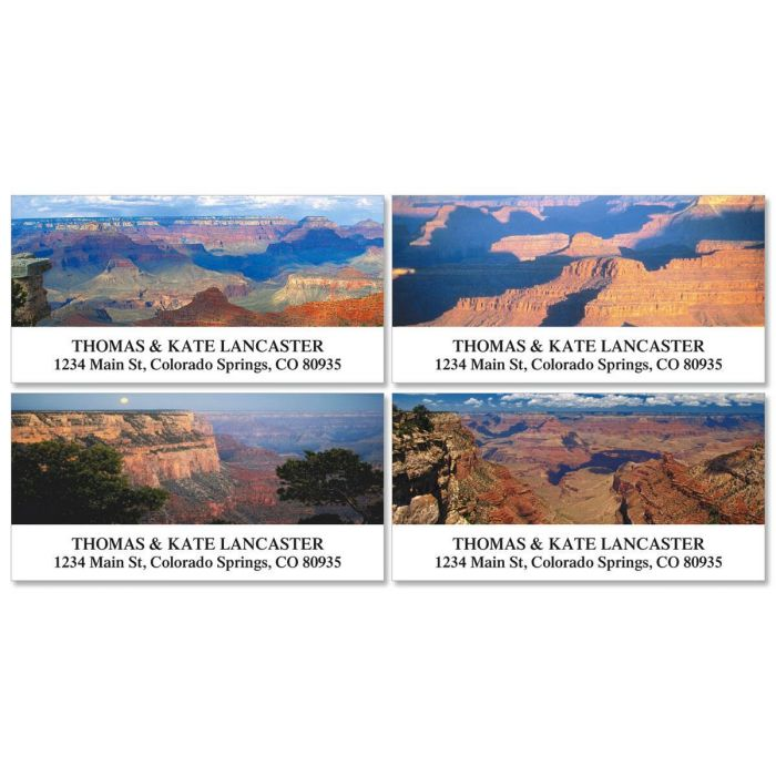 Grand Canyon Deluxe Return Address Labels  (4 Designs)