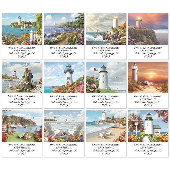 Splendid Lighthouses Select Return Address Labels  (12 Designs)