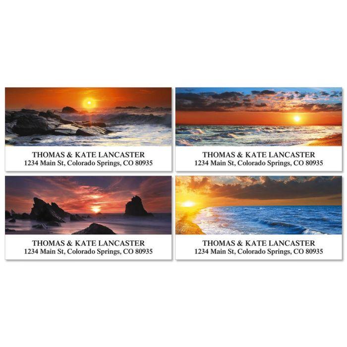 Dramatic Shores Deluxe Return Address Labels  (4 Designs)