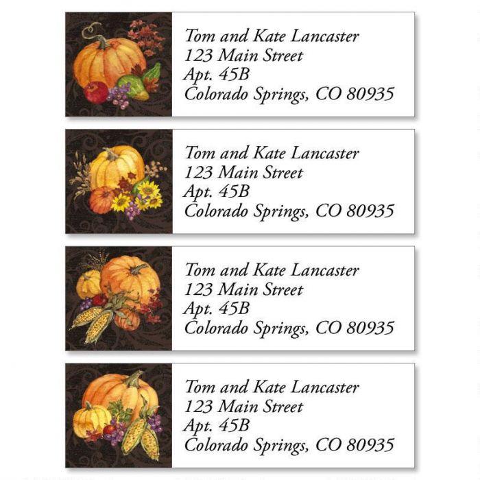 Bountiful Harvest Classic Return Address Labels  (4 Designs)