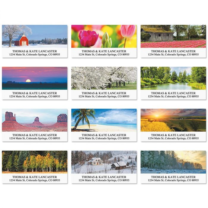 Grace in Nature Deluxe Return Address Labels  (12 Designs)
