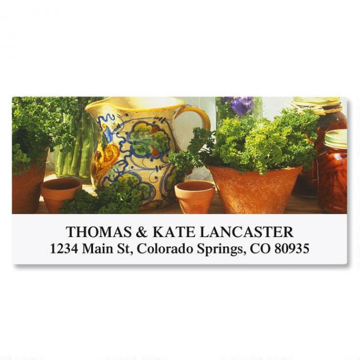 In The Kitchen Deluxe Return Address Labels  (12 Designs)