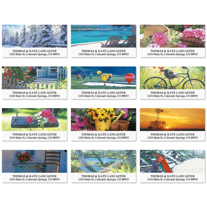 Quiet Moments Deluxe Return Address Labels  (12 Designs)
