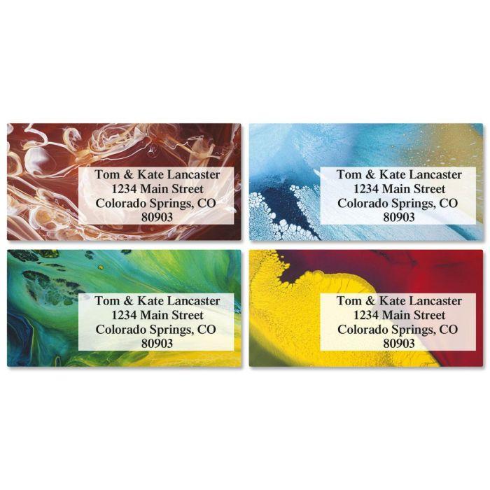 Mod Twisters Border Return Address Labels  (4 Designs)