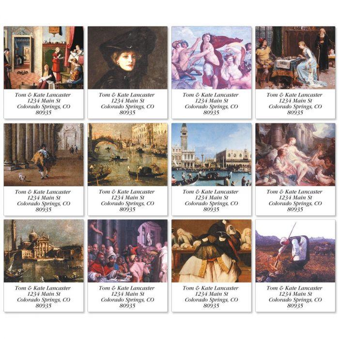 European Portraits Select Return Address Labels  (12 Designs)