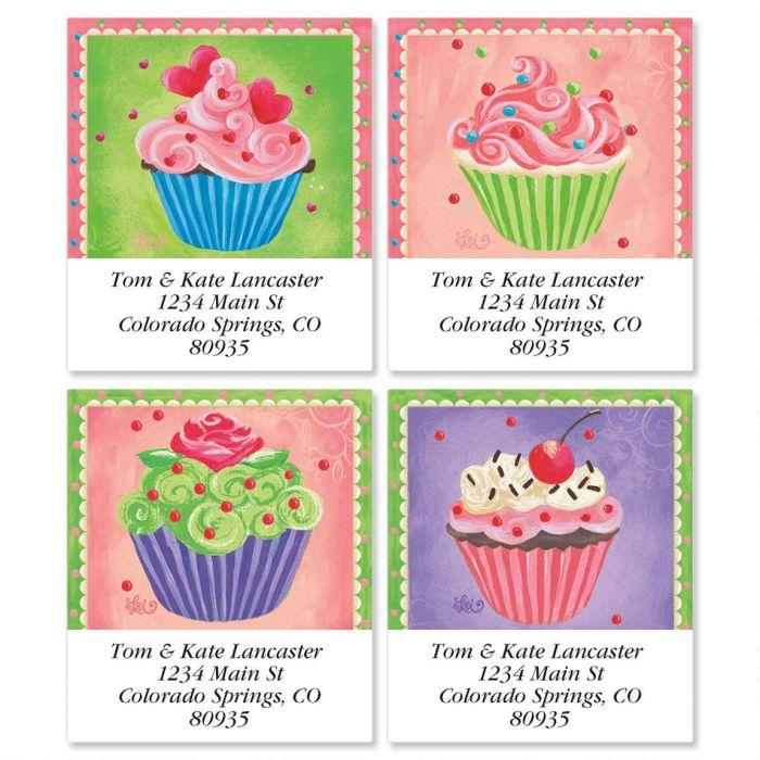Cupcakes Select Return Address Labels  (4 Designs)