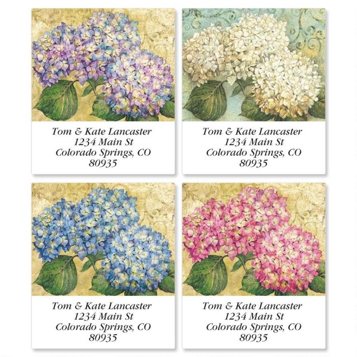 Hydrangea Garden Select Return Address Labels  (4 Designs)