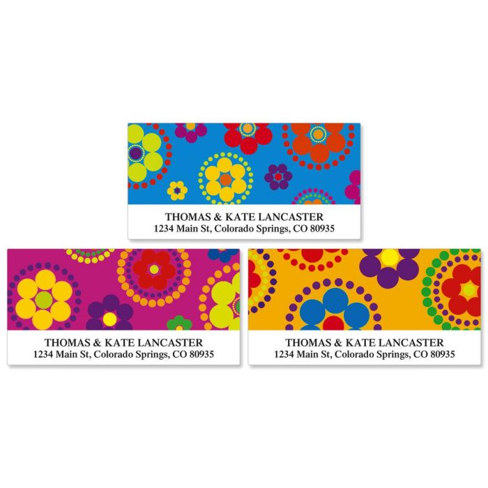 Fiesta Deluxe Return Address Labels  (3 Designs)