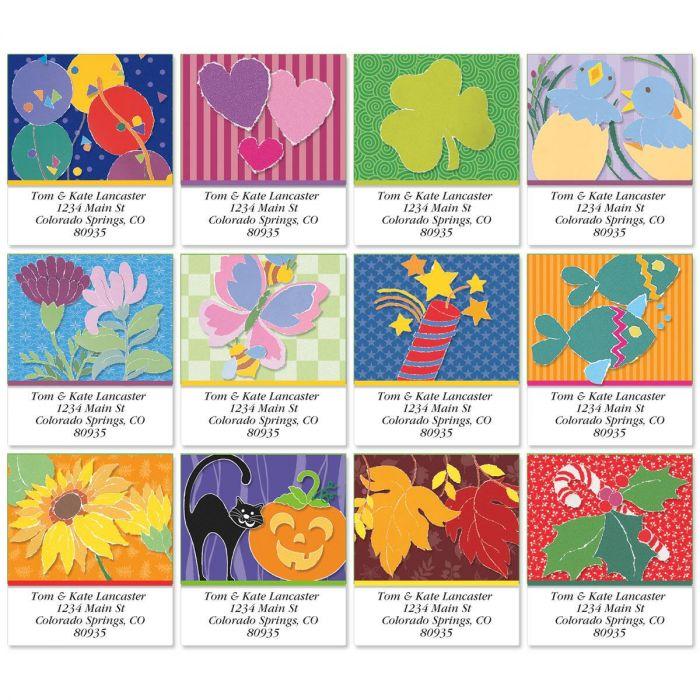 Enjoy Year Round Select Return Address Labels  (12 Designs)