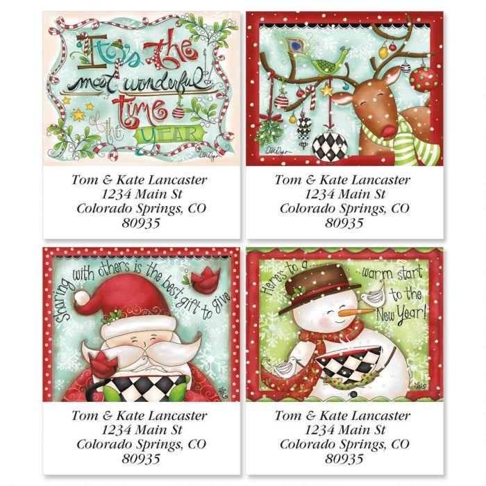 Reindeer Dress-Up Select Return Address Labels  (4 Designs)