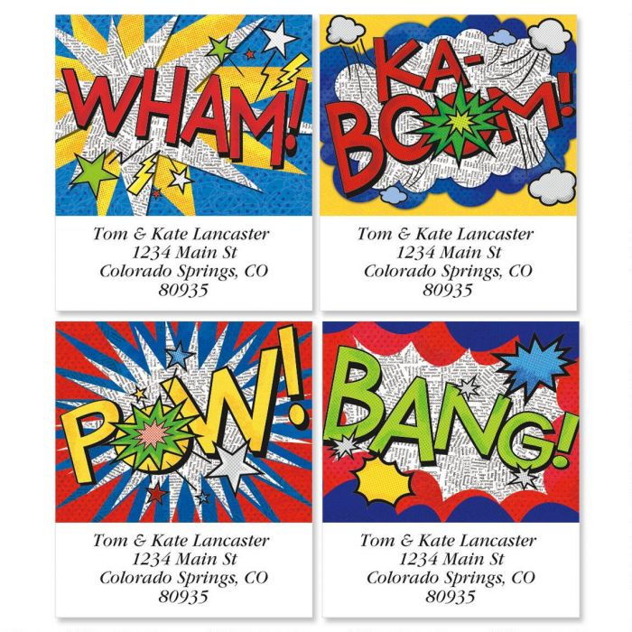 Bam! Select Return Address Labels  (4 Designs)