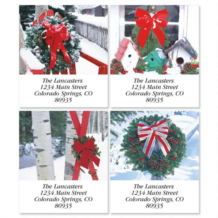 Winter Scene Select Return Address Labels  (4 Designs)
