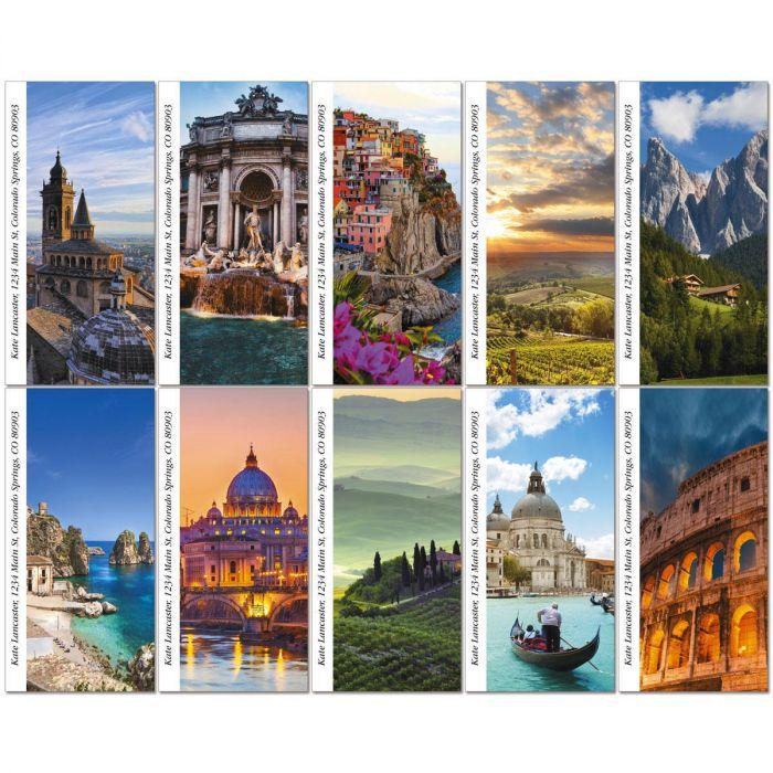 Italia Oversized Return Address Labels  (10 Designs)