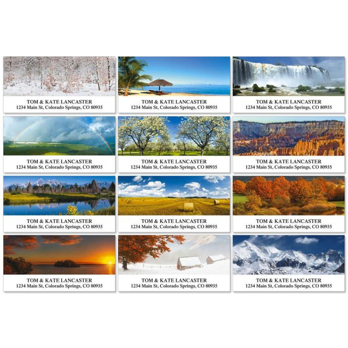 Naturescape Deluxe Return Address Labels  (12 Designs)