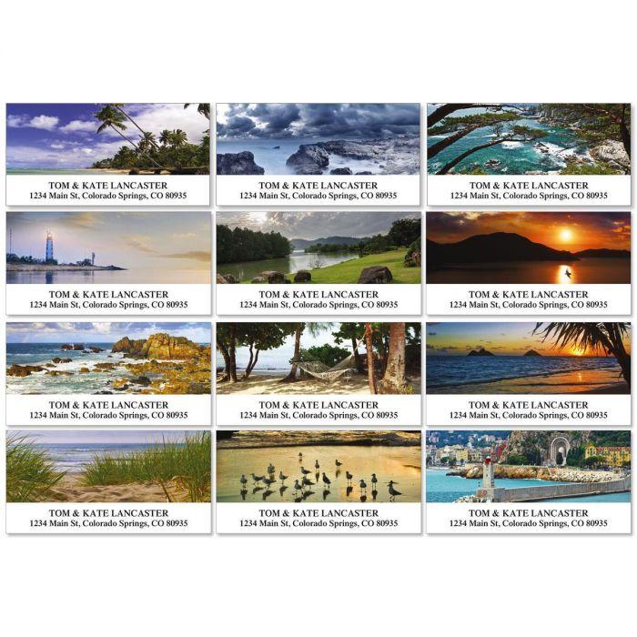 Seascapes Deluxe Return Address Labels  (12 Designs)