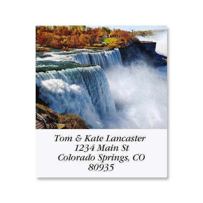 Top Ten Waterfalls  Select Return Address Labels  (10 Designs)