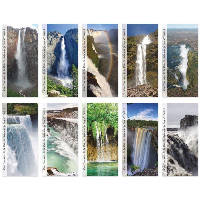 Top Ten Waterfalls Oversized Return Address Labels  (10 Designs)