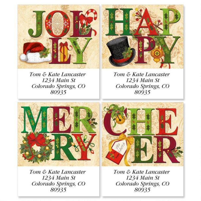 Joyful Greetings Select Return Address Labels  (4 Designs)