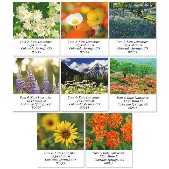 Wildflowers Select Return Address Labels  (8 Designs)