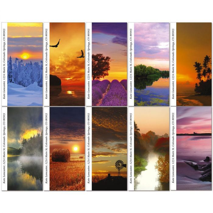 Alluring Sunscapes Oversized Return Address Labels  (10 Designs)