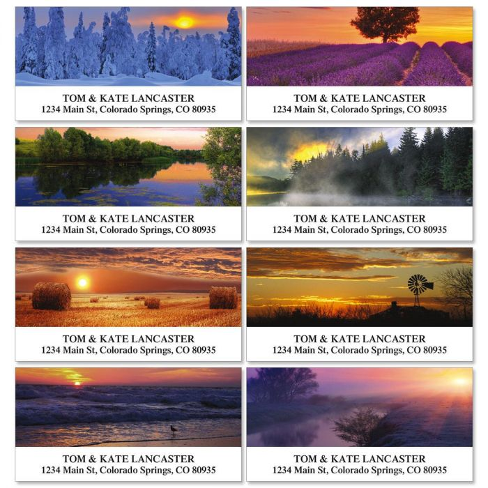 Alluring Sunscapes Deluxe Return Address Labels  (8 Designs)