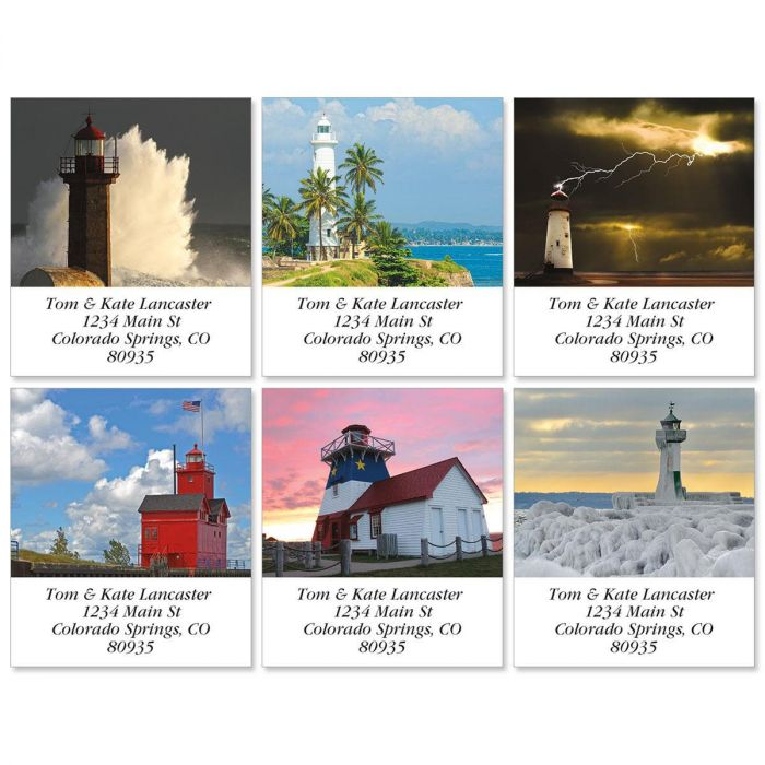 Iconic Lighthouses Select Return Address Labels  (6 Designs)