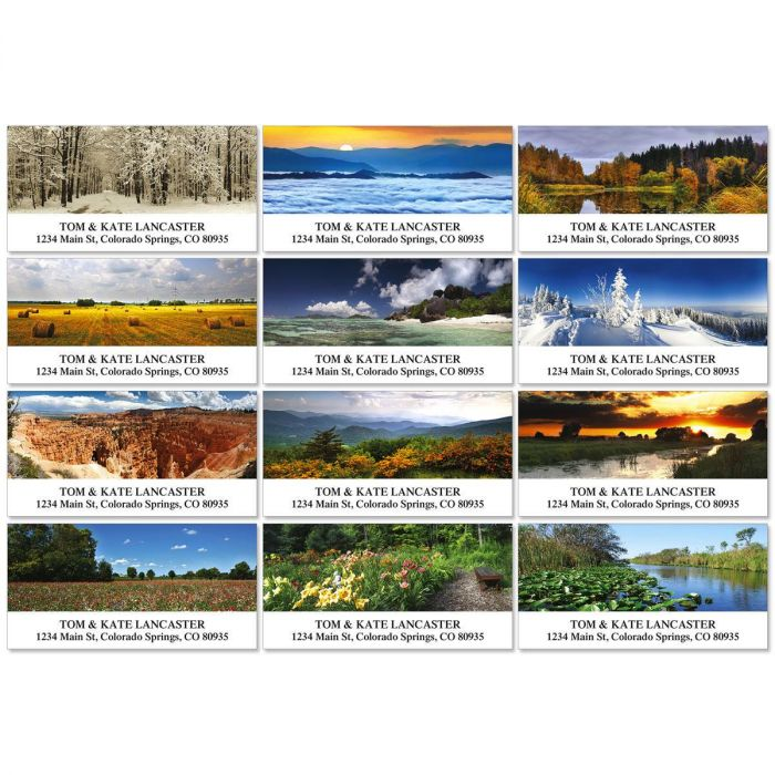 The Art Of Nature Deluxe Return Address Labels  (12 Designs)
