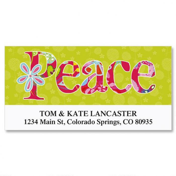 Joyful Florals Deluxe Return Address Labels  (6 Designs)