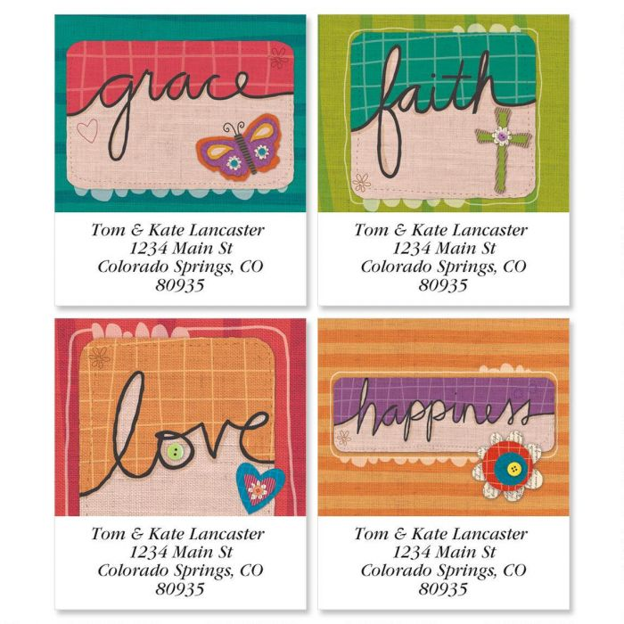 Sufficient Grace Select Return Address Labels  (4 Designs)