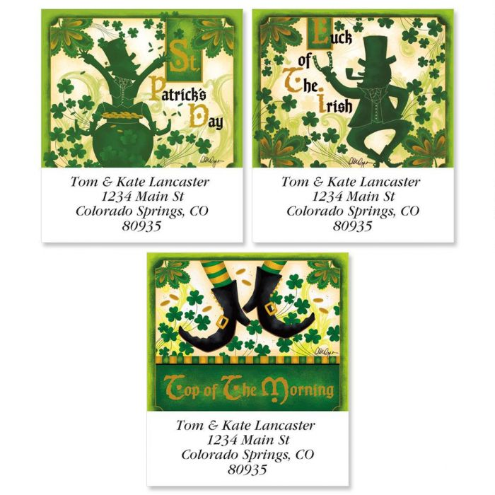 St. Patrick';s Day Select Return Address Labels  (3 Designs)