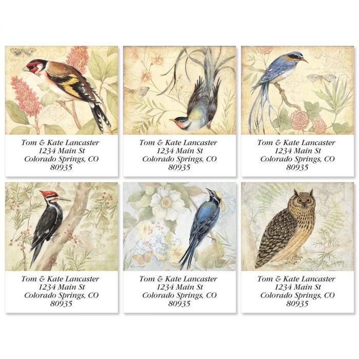 Botanical Birds Select Return Address Labels  (6 Designs)