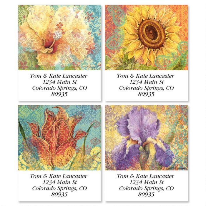 Elaborate Floral Select Return Address Labels  (4 Designs)
