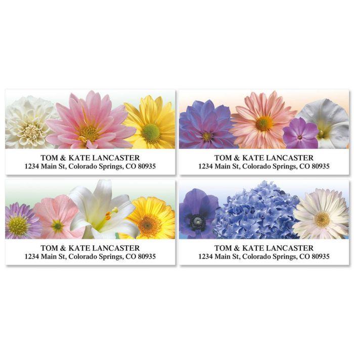 Floral Naturals Deluxe Return Address Labels  (4 Designs)