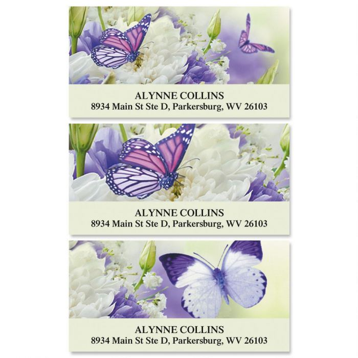 Butterfly Deluxe Return Address Labels  (3 Designs)