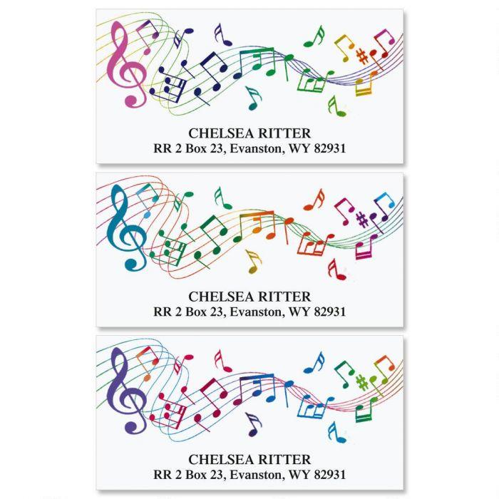 Musical  Deluxe Return Address Labels  (3 Designs)