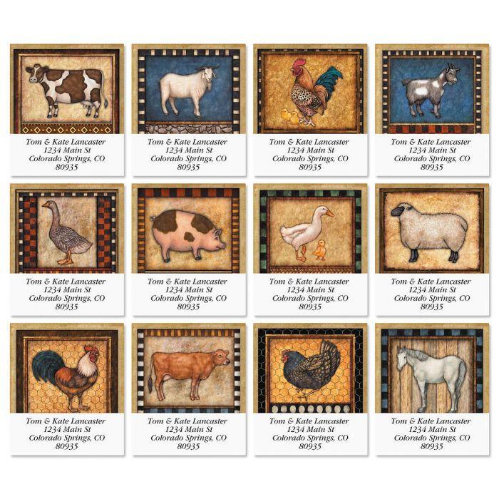 Farm Fresh Select Return Address Labels  (12 Designs)