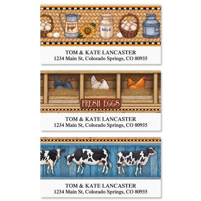 Farm Fresh Deluxe Return Address Labels  (3 Designs)