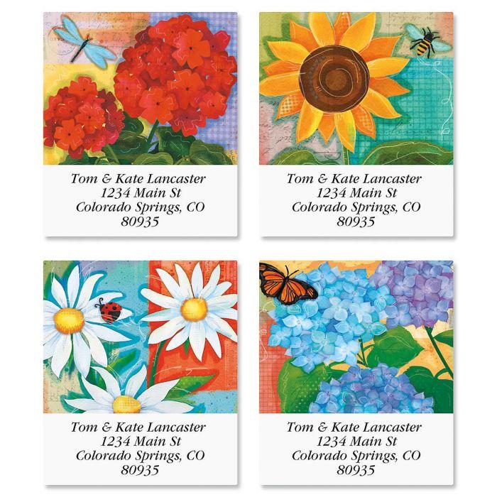 Festive Florals Select Return Address Labels  (4 Designs)