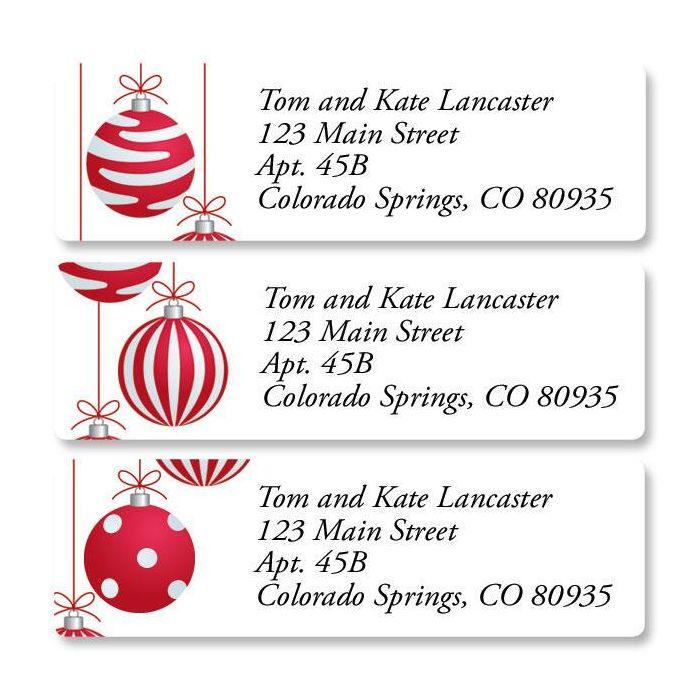 Crimson Delight Classic Return Address Labels  (3 Designs)