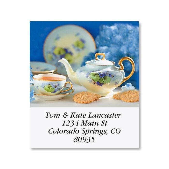 Serving Tea Select Return Address Labels  (12 Designs)