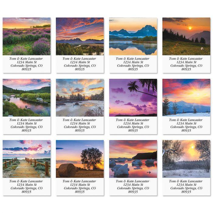 Sunsets Select Return Address Labels  (12 Designs)