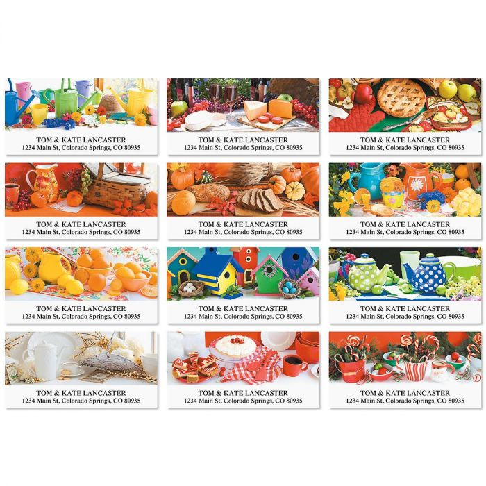 Home Fries Deluxe Return Address Labels   (12 Designs)