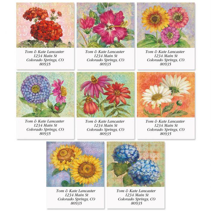 Floral Reflections Select Return Address Labels  (8 Designs)