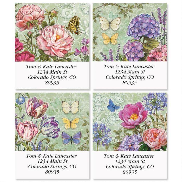 Secret Garden Select Return Address Labels  (4 Designs)