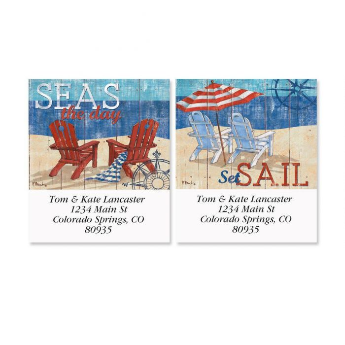 Seas the Day Select Return Address Labels  (2 Designs)