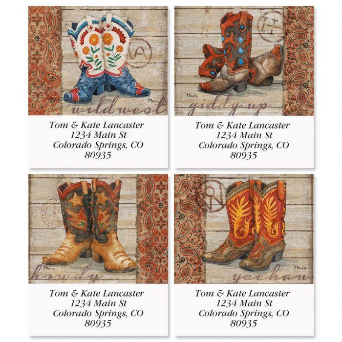 Wild West Select Return Address Labels  (4 Designs)