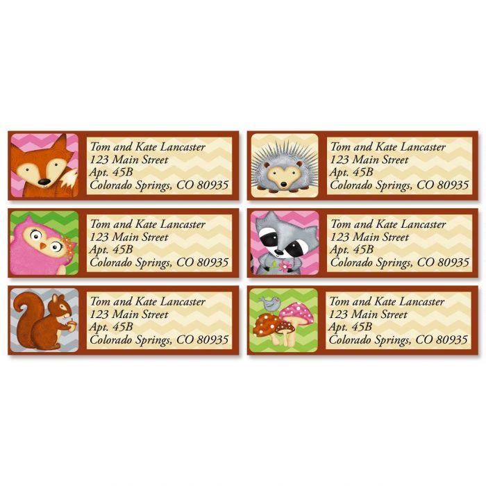 Forest Friends Classic Return Address Labels  (6 Designs)
